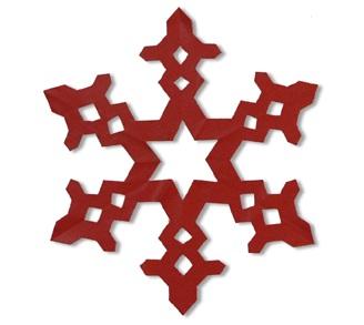 ハート 折り紙:折り紙雪の結晶折り方-yururinnews.com