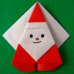 折り紙で簡単にクリスマスの飾りを作ろう!サンタ・星・雪の結晶(立体)の折り方・作り方♪